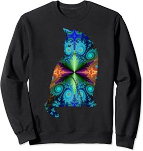 Psychedelic cat sweater.